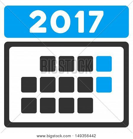 2017 Month Calendar icon. Vector style is flat iconic symbol on a white background.