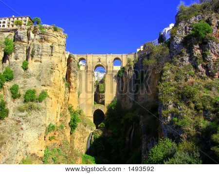 Roman Bridge In Ronda, Spain