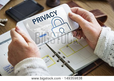 Privacy Log In User Password Register Concept