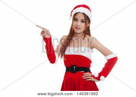 Asian Christmas Santa Claus Girl  Point To Blank Space.