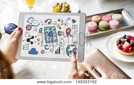 Digital Globalization Internet Technology Graphic Concept