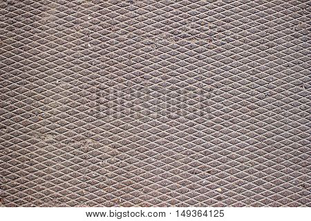Background road plates mesh texture rough structure