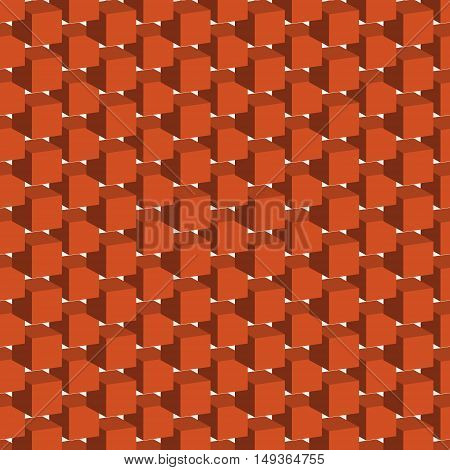 Seamless pattern with geometric figures bulky orange