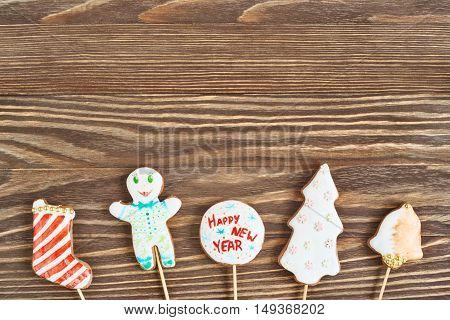 Christmas Cookies On Stick