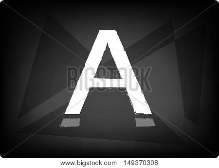 letter a white color on a dark background- symbol, sign