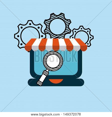 commerce electronic flat icons graphic illustration design