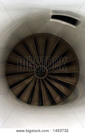 Jet Engine Air Intake Closeup