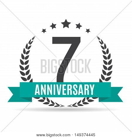 Template 7 Years Anniversary Vector Illustration EPS10