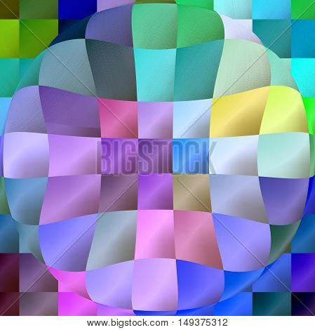 Abstract coloring background of the abstract background with visual lighting, pinch,spherize,pinch and mosaic effects.Good for your project design