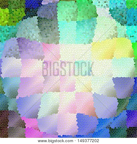 Abstract coloring background of the abstract background with visual lighting, pinch,mosaic,spherize and stained glass effects.Good for your project design