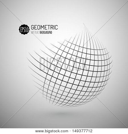 Abstract striped spheres.Sphere vector design.Logo design elements. Geometric element