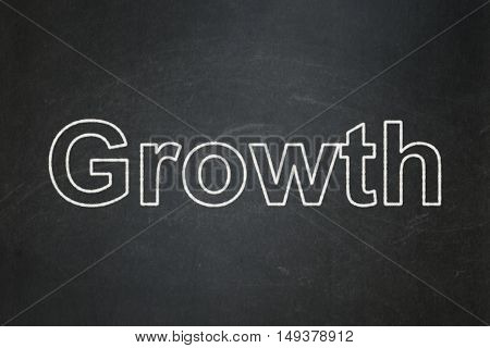 Business concept: text Growth on Black chalkboard background