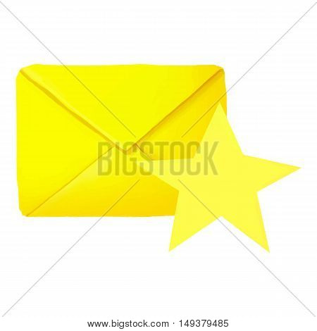 Favorites letter icon in cartoon style isolated on white background. Communication symbol vector illustration