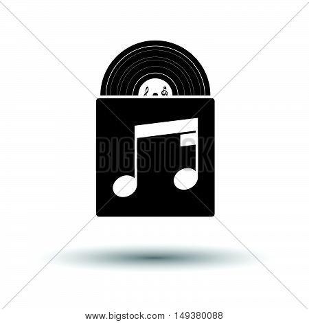 Vinyl Record In Envelope Icon