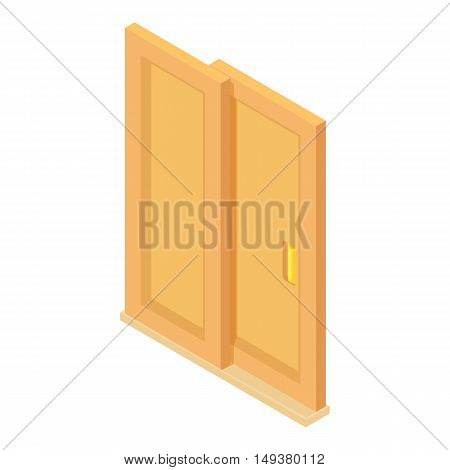 Door coupe icon in cartoon style isolated on white background. Interior symbol vector illustration