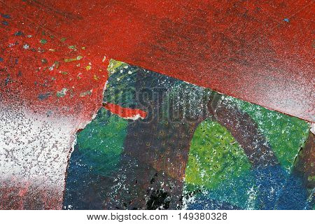 Colorful Torn Old Posters  As Abstract Colorful Textured Background 7
