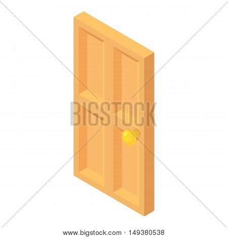 Front door icon in cartoon style isolated on white background. Interior symbol vector illustration