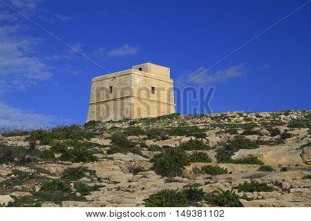 Dwejra Tower Gozo, Malta