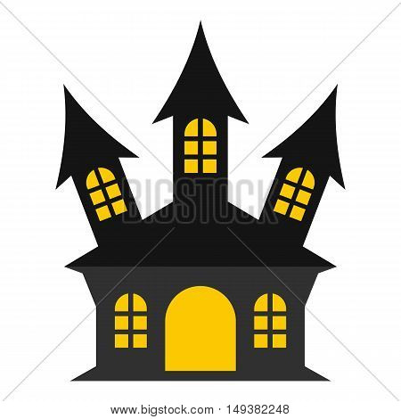 Ancient palace icon in flat style isolated on white background. Structure symbol vector illustration