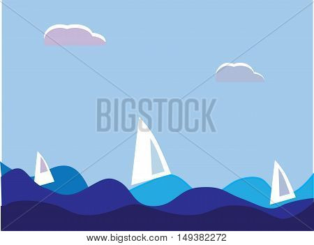 Sailing vessels in the sea it is maybe used for any professional project