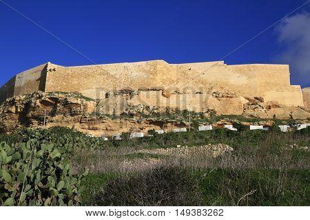 Victoria Citadel In Gozo. Malta