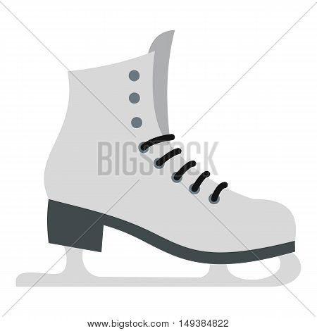 Skates icon in flat style isolated on white background. Winter sport symbol vector illustration