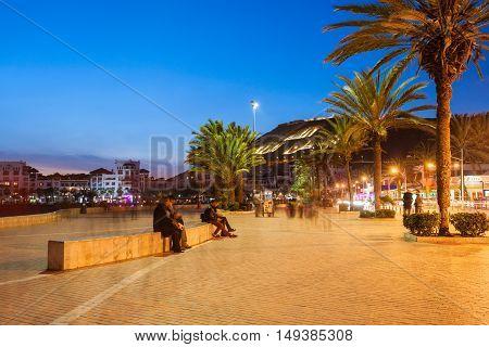 Agadir At Night