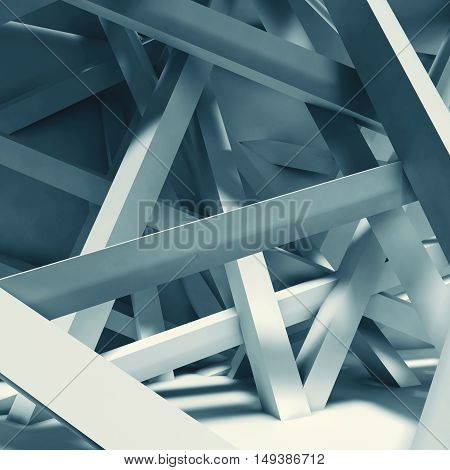 Abstract Interior Background. Chaotic Beams