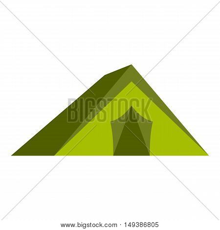 Tourist tent icon in flat style isolated on white background. Tourism and recreation symbol vector illustration