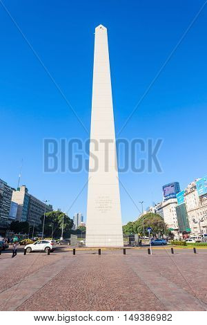 Buenos Aires Sign And Obelisco