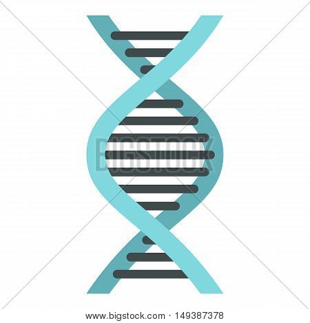 DNA icon in flat style isolated on white background. Science symbol vector illustration