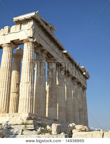 a view Parthenon temple