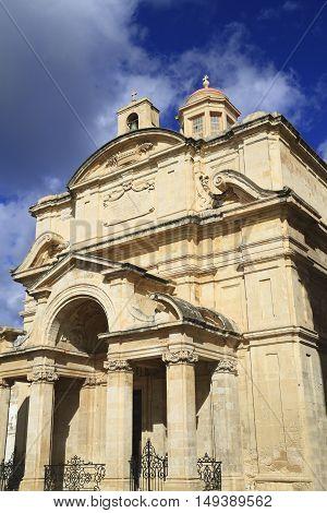 The Church Of St Catherine In Valletta, Malta