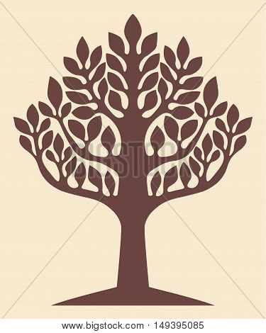 Tree of Life Yggdrasil World Tree Silhouette