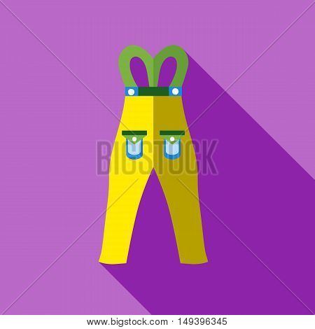 Pants snowboard clothes icon in flat style isolated with long shadow vector illustration