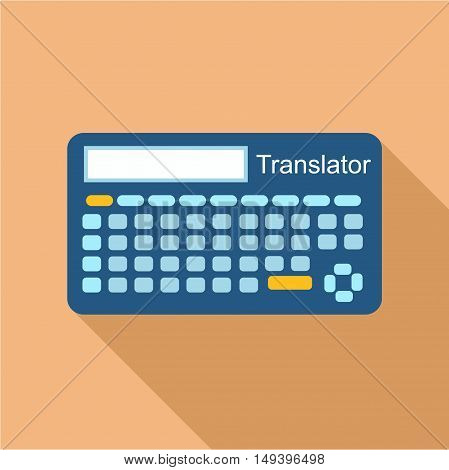 Electronic device to translate from one language to another icon in flat style isolated with long shadow vector illustration