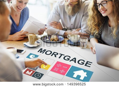 Mortgage Property Investment House Chart Concept