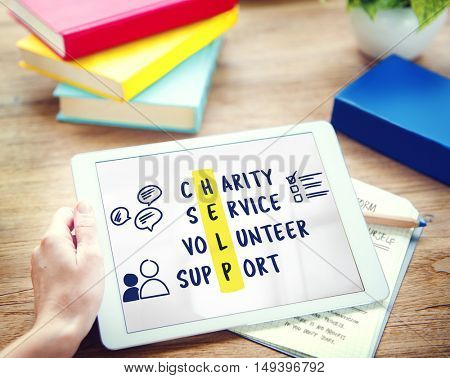 Charity Service Volunteer Support Concept