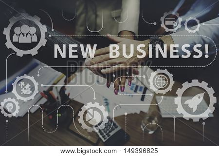 New Business Startup Graphics Concept