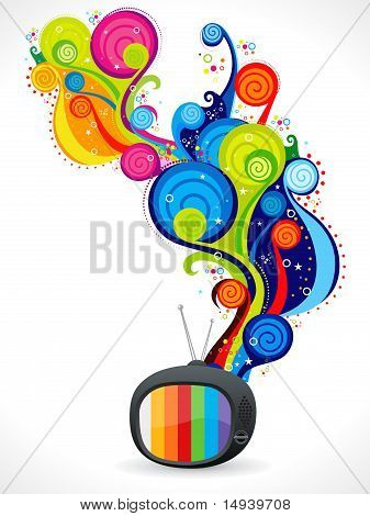 Abstract Colorful Magical Television