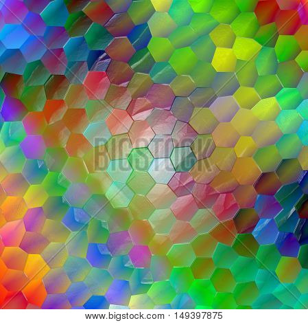 Abstract coloring background of the abstract background with visual lighting,mosaic and plastic wrap effects.Good for your project design