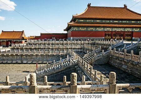BEIJING - CHINA, MAY 2016: The Forbidden City in Beijing - China, at may 15, 2016