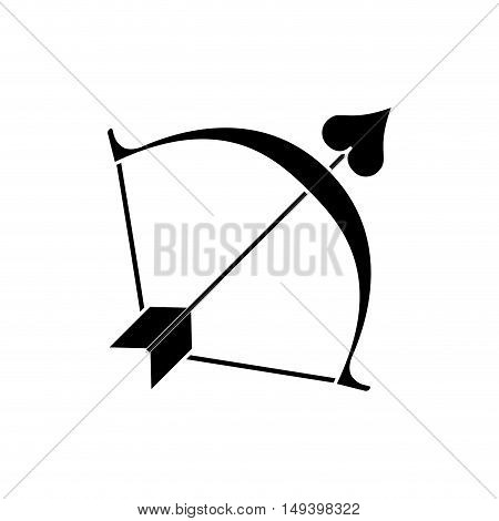Cupids bow icon. Love passion and romantic theme. Isolated design. Vector illustration