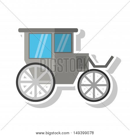 Wedding car icon. marriage love and celebration theme. Isolated design. Vector illustration