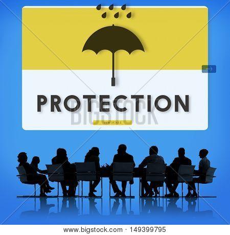 Umbrella Rain Protection Graphic Concept