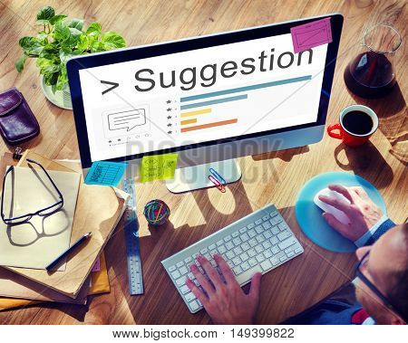 Suggestion Survey Comment Review Ratings Concept