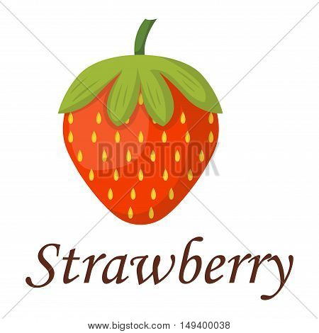 Beautiful red strawberry vector illustration. Strawberry fresh healthy breakfast. Beautiful red strawberry summer vector illustration. Strawberry fruit isolated