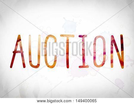 Auction Concept Watercolor Word Art
