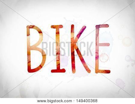 Bike Concept Watercolor Word Art