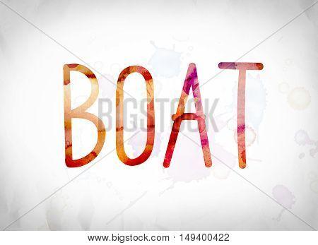 Boat Concept Watercolor Word Art